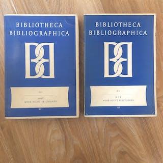Bibliotheca Bibliographica II/1 und 2