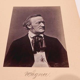 Richard Wagner Portrait Richard Wagner Original-Photographie um 1864