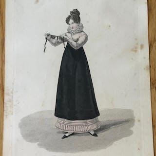 Paris. Tresseuse de cheveux. Gatine (Georges-Jacques) Gravures,Les femmes,Paris