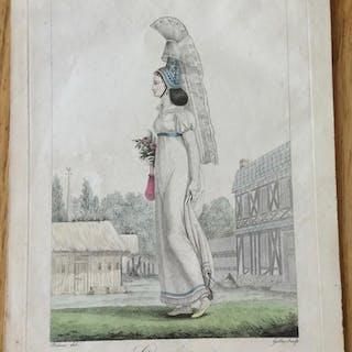 Cauchoise Gatine (Georges-Jacques) Gravures,Les femmes,Régionalisme