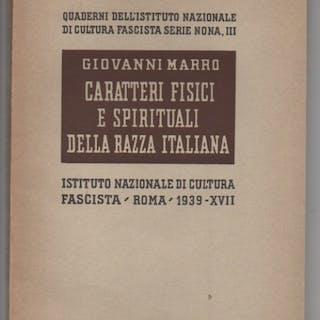 Caratteri fisici e spirituali della razza italiana