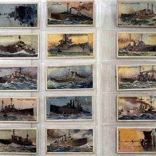 Full Set of 25 Cigarette Cards The World's Dreadnoughts...