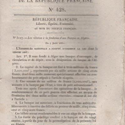Bulletin des Lois de la République Française N° 428