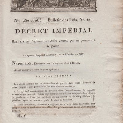 Décret Impérial relatif au Jugement des délits commis par...