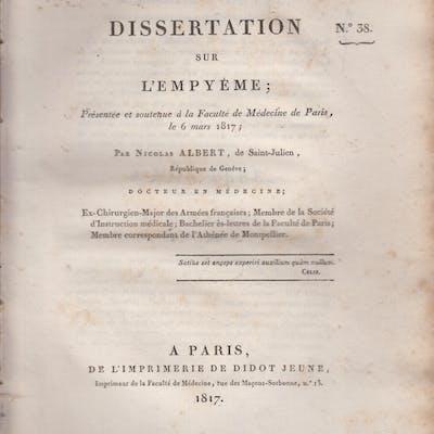 Dissertation sur l'Empyème ; Présentée et soutenue à la...