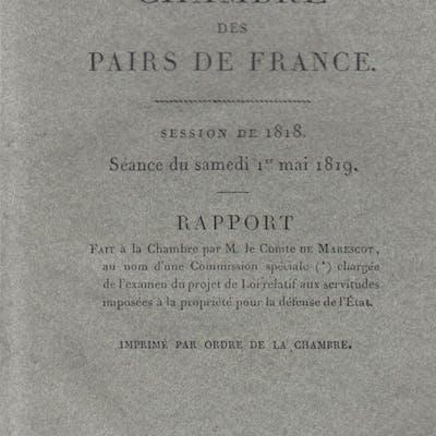 Chambre des Pairs de France - Session de 1818 - Séance du...