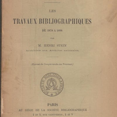 Congrès Bibliographique International tenu à Paris du 3...