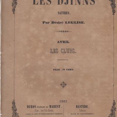 Les Djinns - Satires. - Avril - Les Clubs. Désiré Leglise