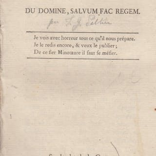 Pange lingua : suite du Domine salvum fac regem. Jean-Gabriel Peltier