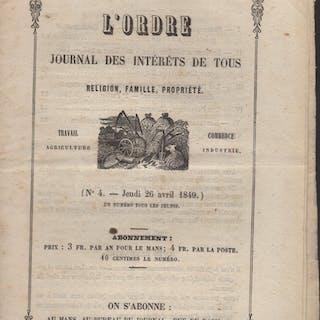 L'Ordre Journal des intérêts de tous religion