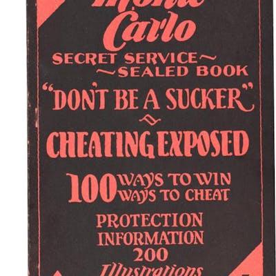 Monte Carlo: Secret Service Sealed Book   Fine Books on Magic