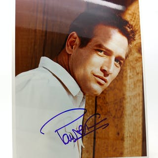 PAUL NEWMAN SIGNED PHOTOGRAPH Autographed Paul Newman