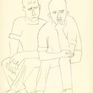 Ben Shahn-Two Men Sitting-1969 Poster Shahn, Ben 52