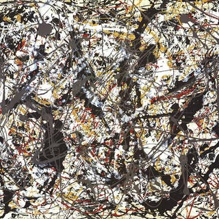 "JACKSON POLLOCK Untitled (1948) 23.5"" x 31.5"" Poster Abstract Multicolor Pollock"