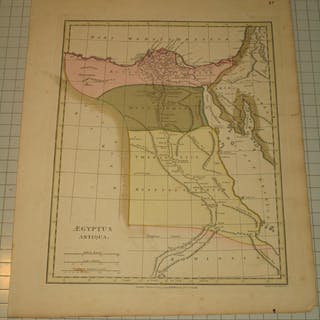 """1796 Antique Map of """"Aegyptus"""" (Egypt) by Robert Wilkinson"""