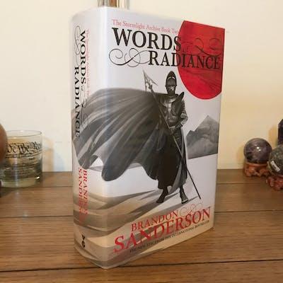 Words of Radiance, UK, Signed, 1st/1st Brandon Sanderson