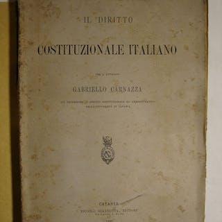 Il diritto Costituzionale Italiano Carnazza Gabriello Sicilia - Diritto