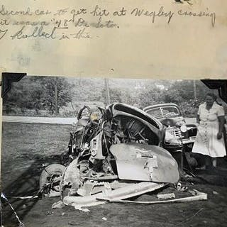 Auto Accident Record Book- Photos- Hand Written Reports- and Clippings