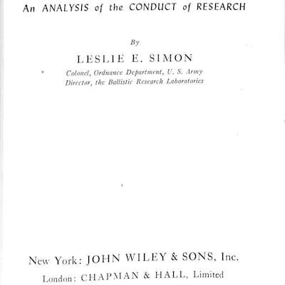 GERMAN RESEARCH IN WORLD WAR II: AN ANALYSIS OF THE CONDUCT OF RESEARCH