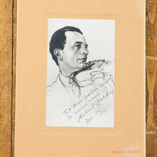 Portrait with autograph dedication and signature