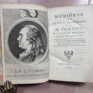 Mémoires Sur La Vie et Les Ouvrages De M.Turgot