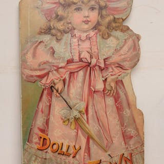 DOLLY IN TOWN. DOLLS. SHAPED BOOK. tick
