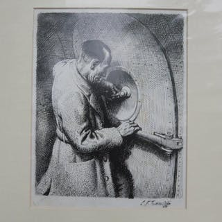 """ORIGINAL PEN AND INK ARTWORK FROM """"THE LONG FLIGHT"""""""