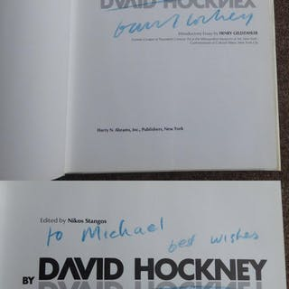 DAVID HOCKNEY by DAVID HOCKNEY. PRESENTATION COPY. HOCKNEY, David