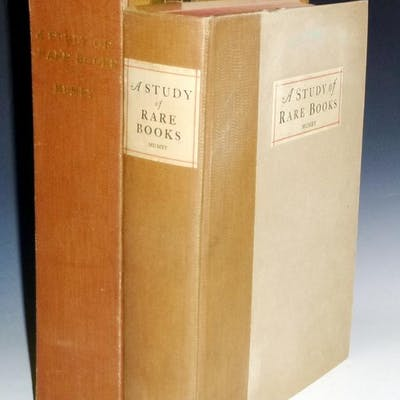 A Study of Rare Books with Special Reference to Colophons