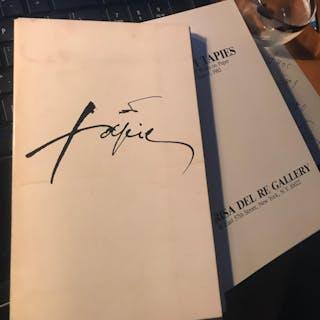 Antoni Tapies: Mixed Media Works on Paper; May 4- June 5. 1982 Tapies, Antoni