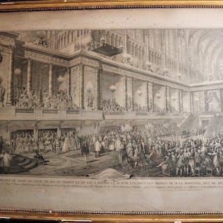 SERMENT DE LOUIS XVI A SON SACRE (ESTAMPE ORIGINALE)