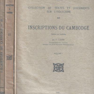 Inscriptions du Cambodge (vol. I à III) COEDES (Georges)