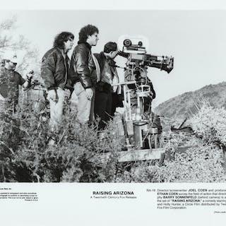 Raising Arizona (Two original photographs from the set of the 1987 film) Coen