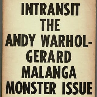 Intransit the Andy Warhol - Gerard Malanga monster issue Warhol