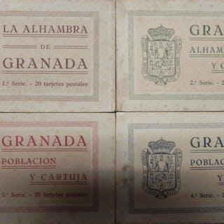 Granada. 4 series de 20 tarjetas postales (falta una postal de la 3ª serie)