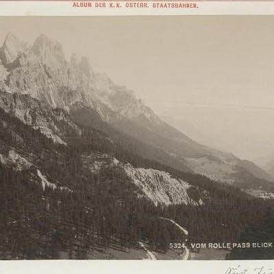 N. 5324. Vom Rolle pass blick S