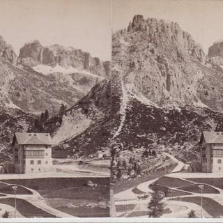 Tirol, Pordoi Hotel mit Sella, N: 4666. [TIROL - BEER ALOIS].