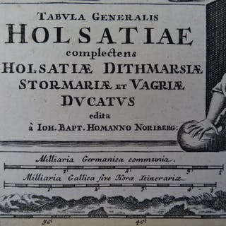 Tabula Generalis Holsatiae complectens Holsatiae...
