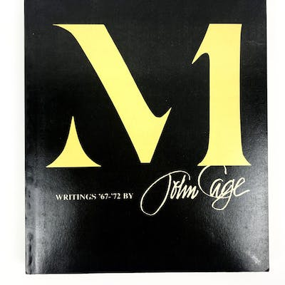 M, Writings '67-'72 - Inscribed to Paul Zukofsky Cage