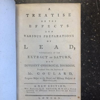 A TREATISE ON THE EFFECTS AND VARIOUS PREPARATIONS OF LEAD
