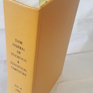 SIAM Journal on Scientific and Statistical Computing Volume 4 Golub