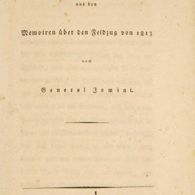 Auszug aus den Memoiren über den Feldzug von 1813