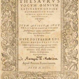 Thesaurus vocum omnium Latinarum ordine alphabetico digestarum
