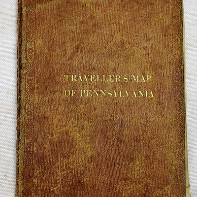 The Tourist's Pocket Map Of Pennsylvania Exhibiting Its...