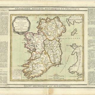 L'Irlande divisée Par Provinces Civiles et...