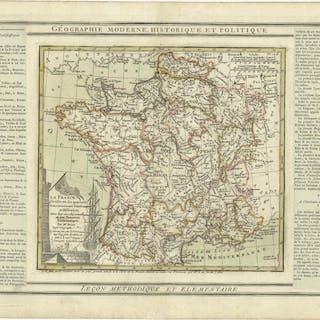 La France Divisée en ses quarante Gouvernamens Généraux et Militaire