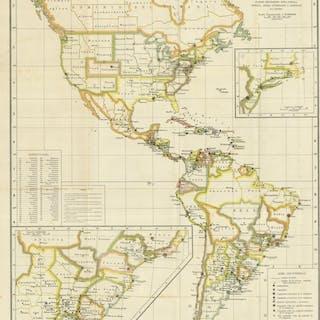 America settentrionale, centrale e Meridionale anonimo