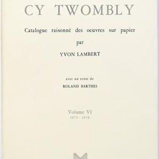Cy Twombly / Catalogue raisonné des oeuvres sur papier /...