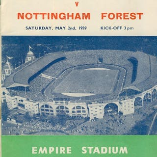 LUTON TOWN V NOTTINGHAM FOREST 1959 (F.A. CUP FINAL) FOOTBALL PROGRAMME