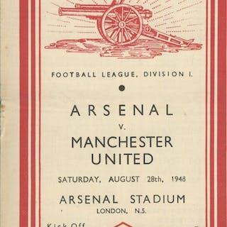ARSENAL V MANCHESTER UNITED 1948-49 FOOTBALL PROGRAMME